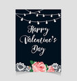 valentine s day vintage card vector image