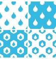 Water drop patterns set vector image vector image