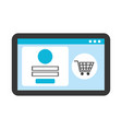 website page online shopping access store vector image