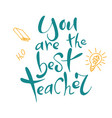 welcom to school hand writing quote typography vector image vector image