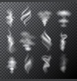 white smoke elements vector image vector image