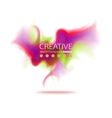 Abstract colorful smoke background Abstract vector image