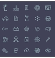 Outline icons Car parts and services vector image