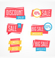 set of isolated colorful labels for sale vector image