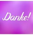 Danke Thank you in German brush hand lettering vector image