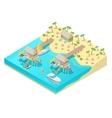 Isometric Tropical Beach Vacation Resort vector image