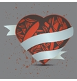 abstract heart on dirty background vector image vector image