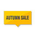autumn sale price tag vector image vector image