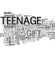 awesome gift ideas for teenage dude text word vector image vector image