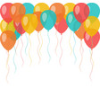 background with flying celebration balloons vector image vector image