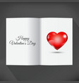 Blank open book for your wishes with heart vector image