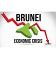 brunei map financial crisis economic collapse vector image