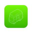camper van icon green vector image