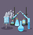 chemical equipment and experiments abstract vector image