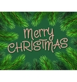 Christmas Border Fir-tree Branches with Candy cane vector image
