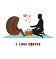 coffee lovers Lovers on picnic Rendezvous in Park vector image vector image