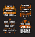 coffee saying quote set 100 best for print vector image vector image
