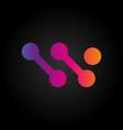 color gradients logo on a black background vector image vector image