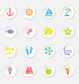 colorful flat icon set 9 circle button vector image vector image