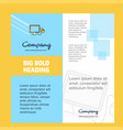 computer company brochure title page design vector image vector image