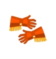 cowboy gloves with fringe drawing isolated vector image vector image