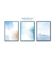 creative minimalist watercolors hand-painted blue vector image vector image
