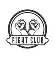 crossed hands design logos for fighting cl vector image vector image