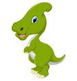 Dinosaur Parasaurolophus cartoon for you design vector image