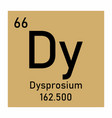 dysprosium chemical symbol vector image vector image