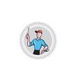 Electrician Screwdriver Plug Rosette Cartoon vector image vector image