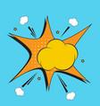 empty comic boom explosion vector image