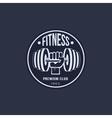 Fitness Emblems Set vector image vector image