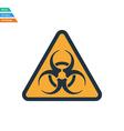 Flat design icon of biohazard vector image vector image
