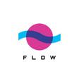flow logo design vector image