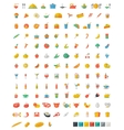 Food and beverages flat icons vector image
