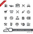 gas station icons - basics vector image vector image