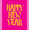 gothic inscription happy new year the vector image