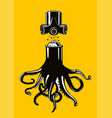 graffiti spray can with octopus tentacles vector image