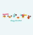 greeting banner for jewish holiday hanukkah vector image vector image