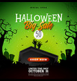 halloween sale banner with vector image vector image