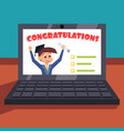 happy student got the grade colorful positive vector image