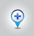 hospital pins vector image vector image
