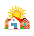 house and sun vector image vector image