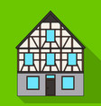 house single icon in flat stylehouse vector image vector image