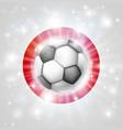 japan soccer flag vector image vector image