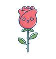 kawaii valentine rose flower vector image vector image