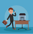 lawyer and work vector image