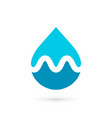 letter m water drop logo icon design template vector image vector image
