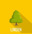 linden tree icon flat style vector image vector image
