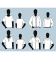 man clothes design vector image vector image